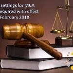 New DSC settings for MCA website