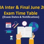 ICWAI June 2019 Intermediate & Final Exam Time Table & Programme