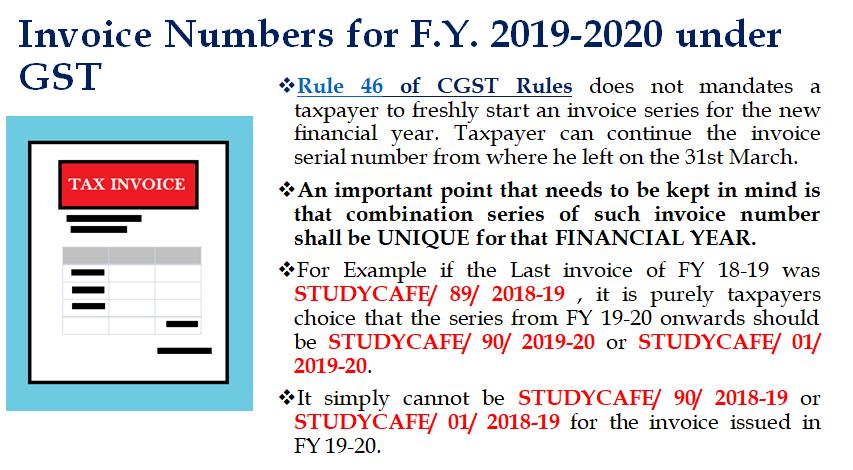 unique serial number in gst