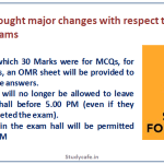 ICAI has brought major changes with respect to May 2019 CA exams