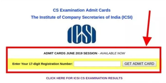 ICSI Released Admit Cards for CS June 2019 Exam