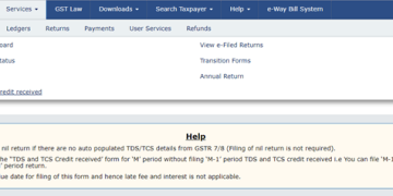 GST portal enabled new window for claiming TDS/TCS credits