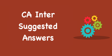 CA Inter May 2019 Accounts & Adv Accounts Suggested Answers