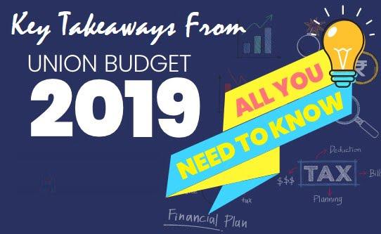 Key Takeaways From Union Budget 2019-20