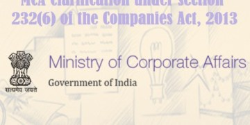 MCA Clarification under section 232(6) of the Companies Act, 2013