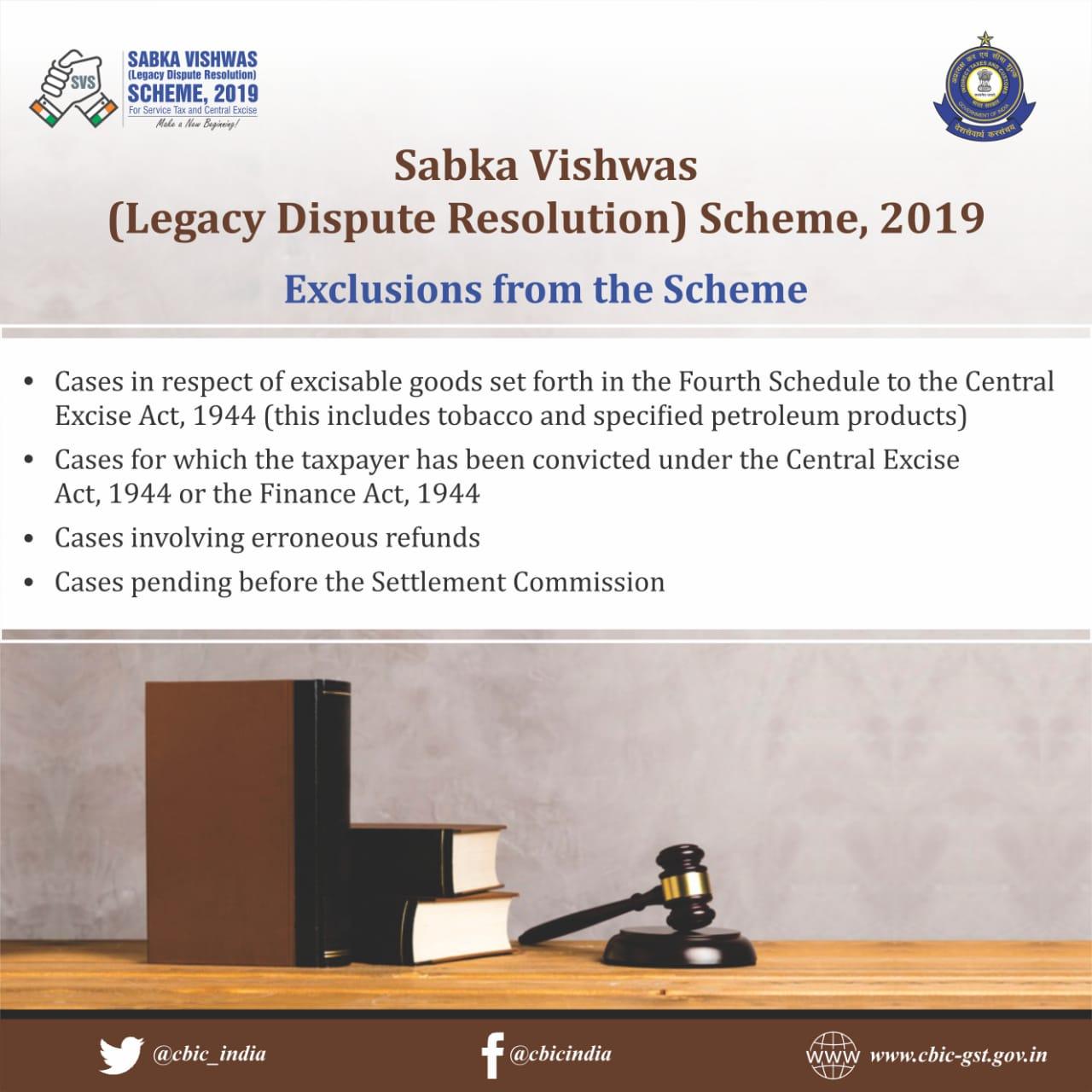 Sabka Vishwas - Legacy Dispute Resolution Scheme notified