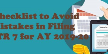 Checklist to Avoid Mistakes in Filing ITR 7 for AY 2019-20