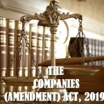 THE COMPANIES (AMENDMENT) ACT, 2019