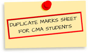 Procedure for obtain duplicate Mark Sheet / Certificate of CMA June 2019 Exam