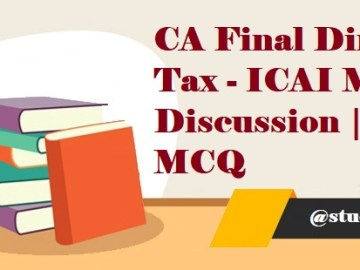 Download CA IPCC MCQ's for May 2019 | CA Inter MCQ's for May