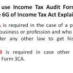 Difference between form 3CA & 3CB - Income Tax Audit Form