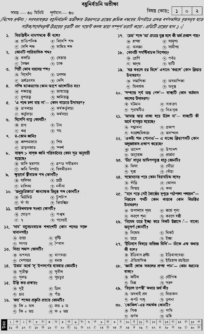 SSC Bangla 2nd Paper Suggestion 2020 & Question Patterns