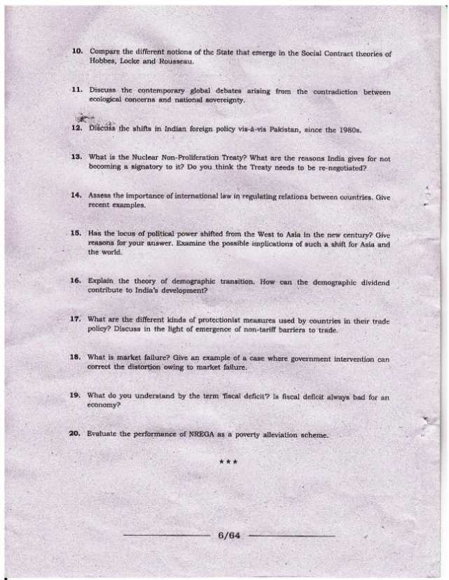 JNU MA Intentional Relations Entrance exam Syllabus