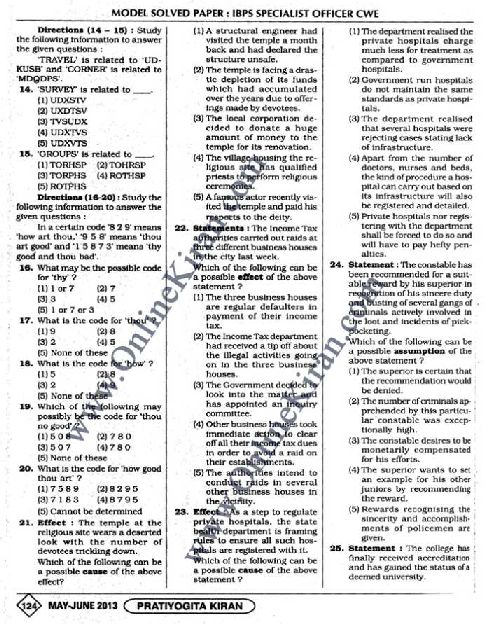 IBPS HR specialist officer previous years question papers