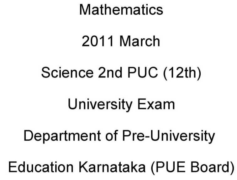 Department of Pre-University Education Karnataka (PUE