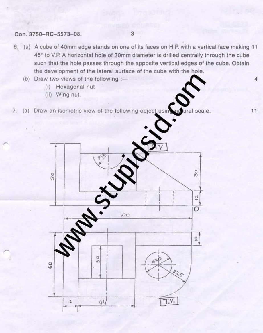 Mumbai University BE II Sem Engineering Drawing (ED) Exam