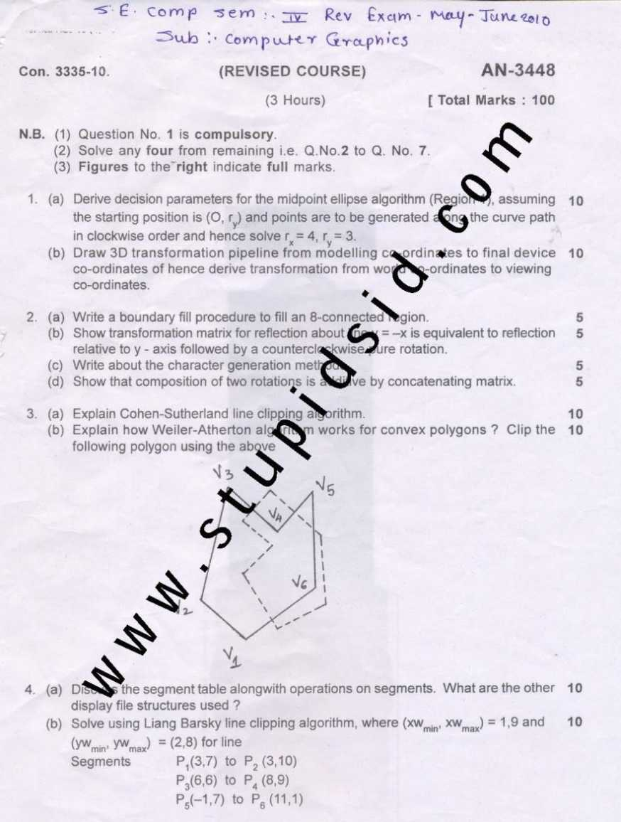 MU BE in ET, 4th Semester, Applied Mathematics-IV Exam