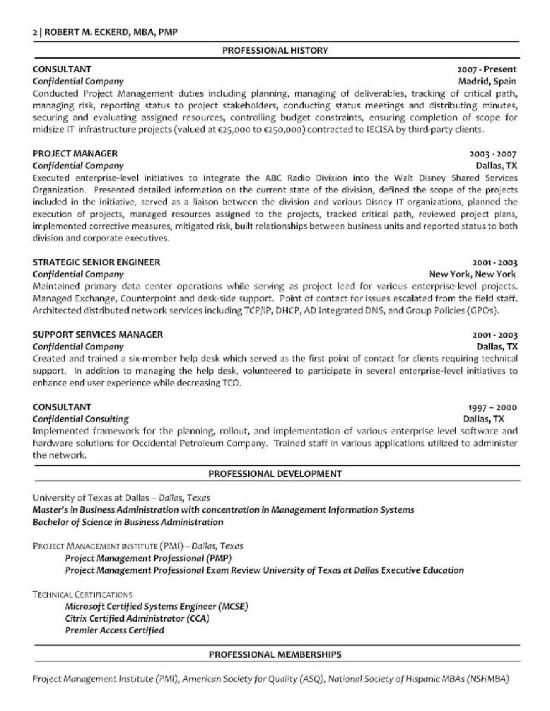 Application Support Project Manager Resume Resume For Mba Resume Sample Mba  Cover Letters Resume Sample Mba