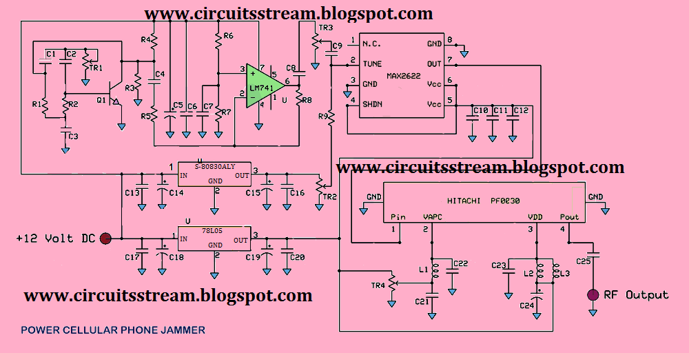 Cell Phone Jammer Circuit Diagram Circuit And Schematics Diagram