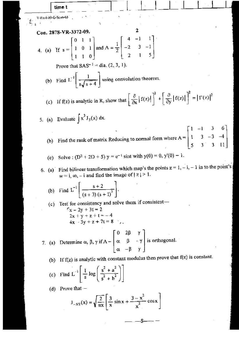 Mu B E In Chemical Engineering 3rd Sem Applied
