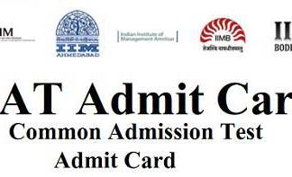 CAT Admit Card 2018 -2019 | Download CAT Hall Ticket/Call Letter