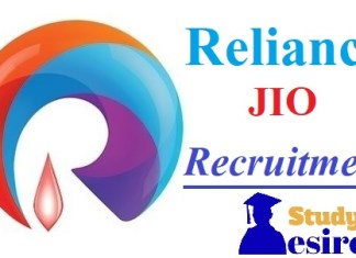 Reliance JIO Recruitment 2019 Careers, Jobs opening, Freshers Notification