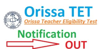 Orissa TET Notification 2019