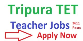 Tripura TET Teacher Recruitment 2019