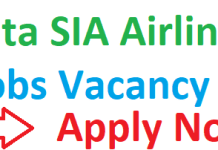 Tata SIA Airlines Jobs Vacancy