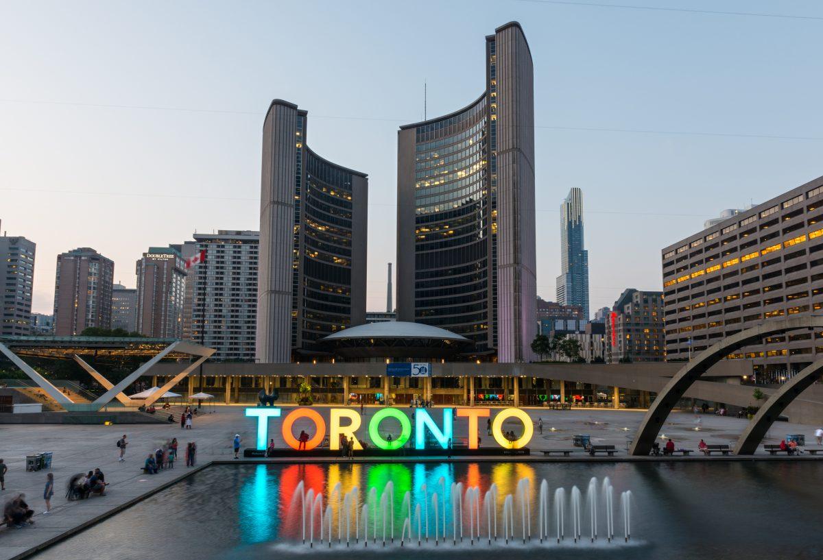 Nathan Phillips Square and City Hall on Toronto