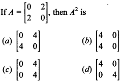 Maths MCQs for Class 12 with Answers Chapter 3 Matrices