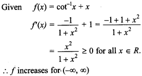Maths MCQs for Class 12 with Answers Chapter 6 Application