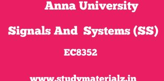 EC8352 Signals and Systems (SS)