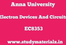 EC8353 Electron Devices and Circuits