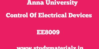 EE8009 Control of Electrical Drives