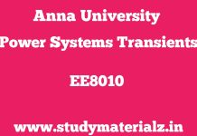 EE8010 Power Systems Transients