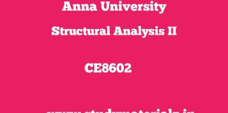 CE8602 Structural Analysis II