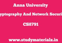 CS8792 Cryptography and Network Security