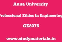 GE8076 Professional Ethics in Engineering