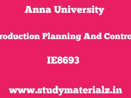 IE8693 Production Planning and Control