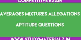 Averages Mixtures and Allegations