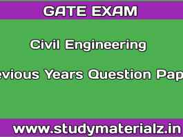 Civil Engineering GATE Previous Years Question Papers