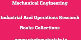 Industrial And Operations Research Standard Books