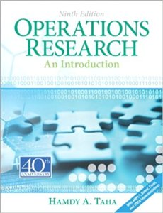 Operations Research An Introduction Book By Hamdy A. Taha