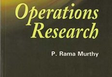 Operations Research Book By P Ramamurthy