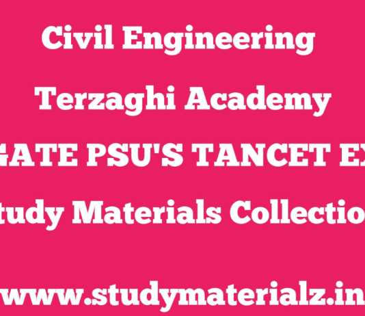 TERZAGHI ACADEMY GATE IES TANCET PSU