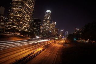 Richard Saethang. 110 Overpass, Downtown Los Angeles.