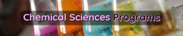 Chemical Sciences Programs Scope & Admissions