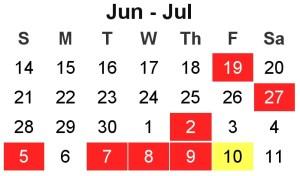 calendar chain