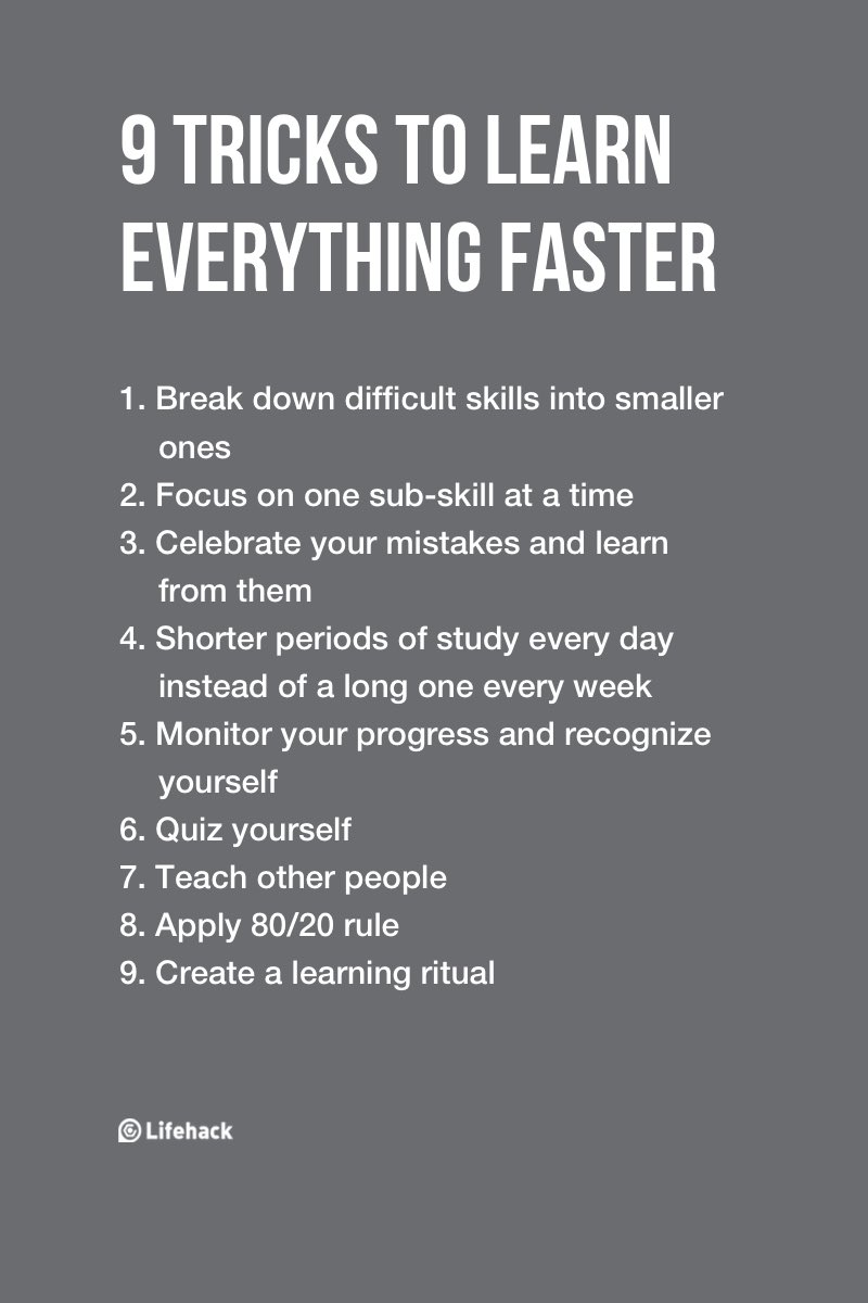 9 tricks to learn everything faster